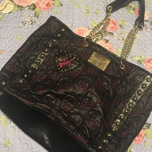 Large Betsey Johnson Tote with Chain Straps